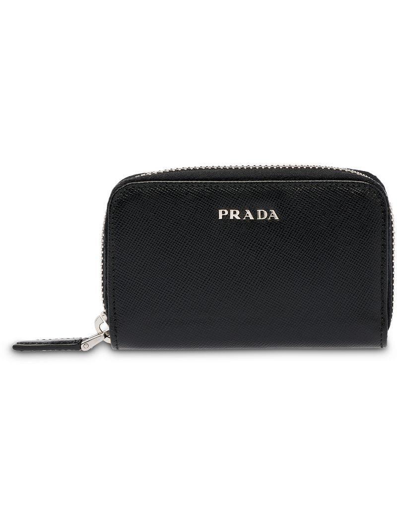 2bbfa5743c Prada - Black Saffiano Leather Padlock Holder - Lyst. View fullscreen