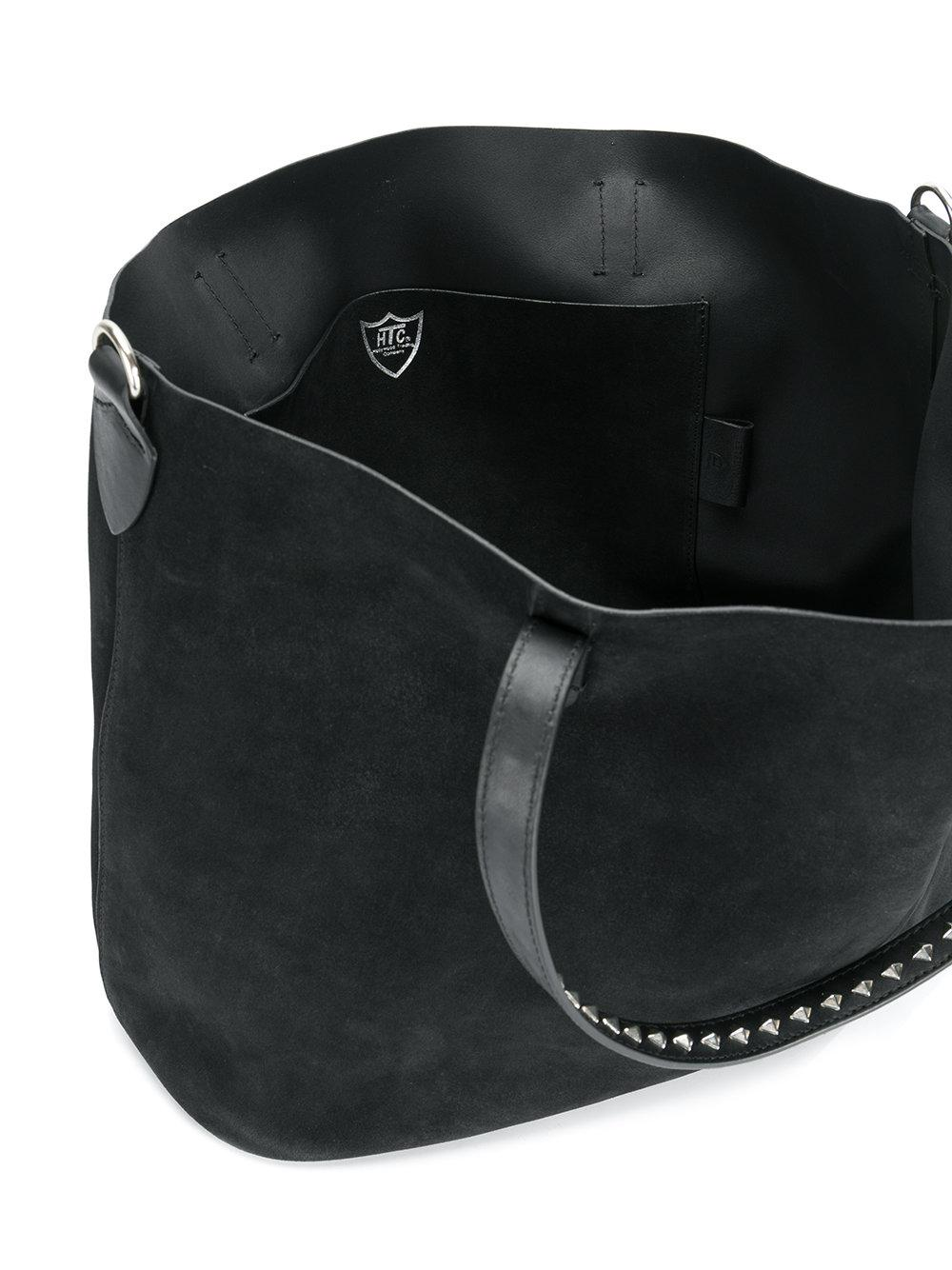 Black Hollywood Bag Trading Company Tote In Studded Handle Lyst Htc CqgPx4wxZ