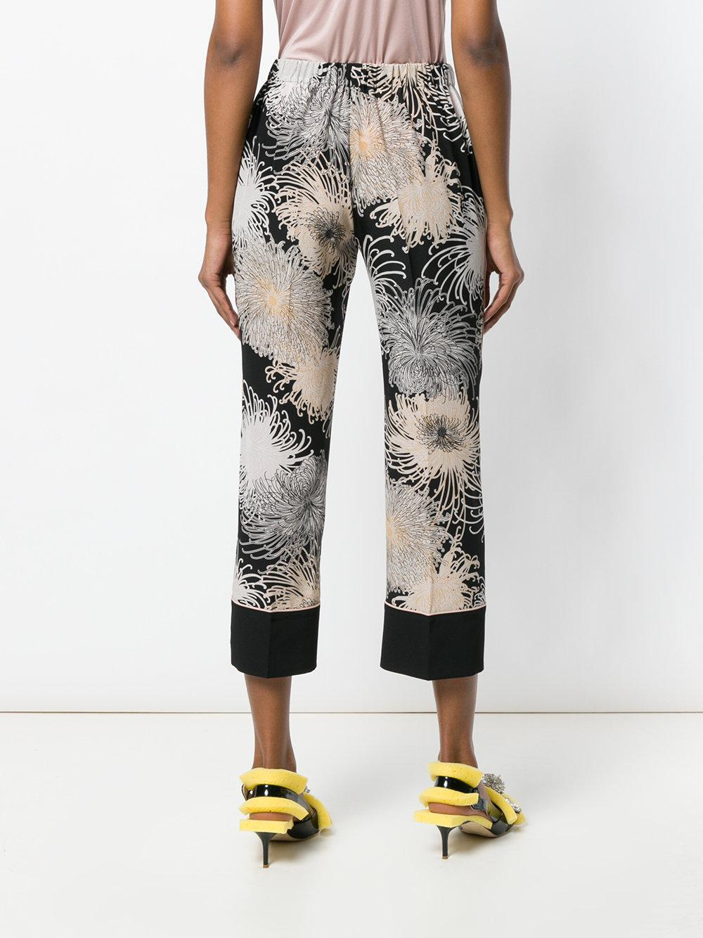 Cheap Good Selling Enjoy Shopping printed cropped trousers - Black N Brand New Unisex Online fAPN0X