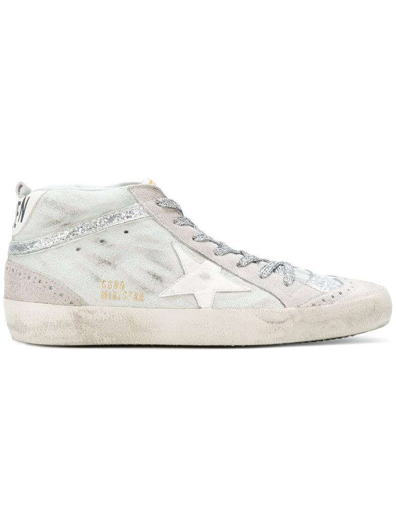 d4d8656eee4c Lyst - Golden Goose Deluxe Brand Mid Star Sneakers in Gray