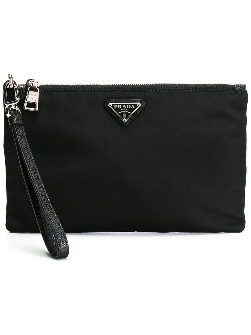 ... discount code for lyst prada brand embellished clutch bag men nylon one  size a74d2 56059 ... c61cf4cfbc381