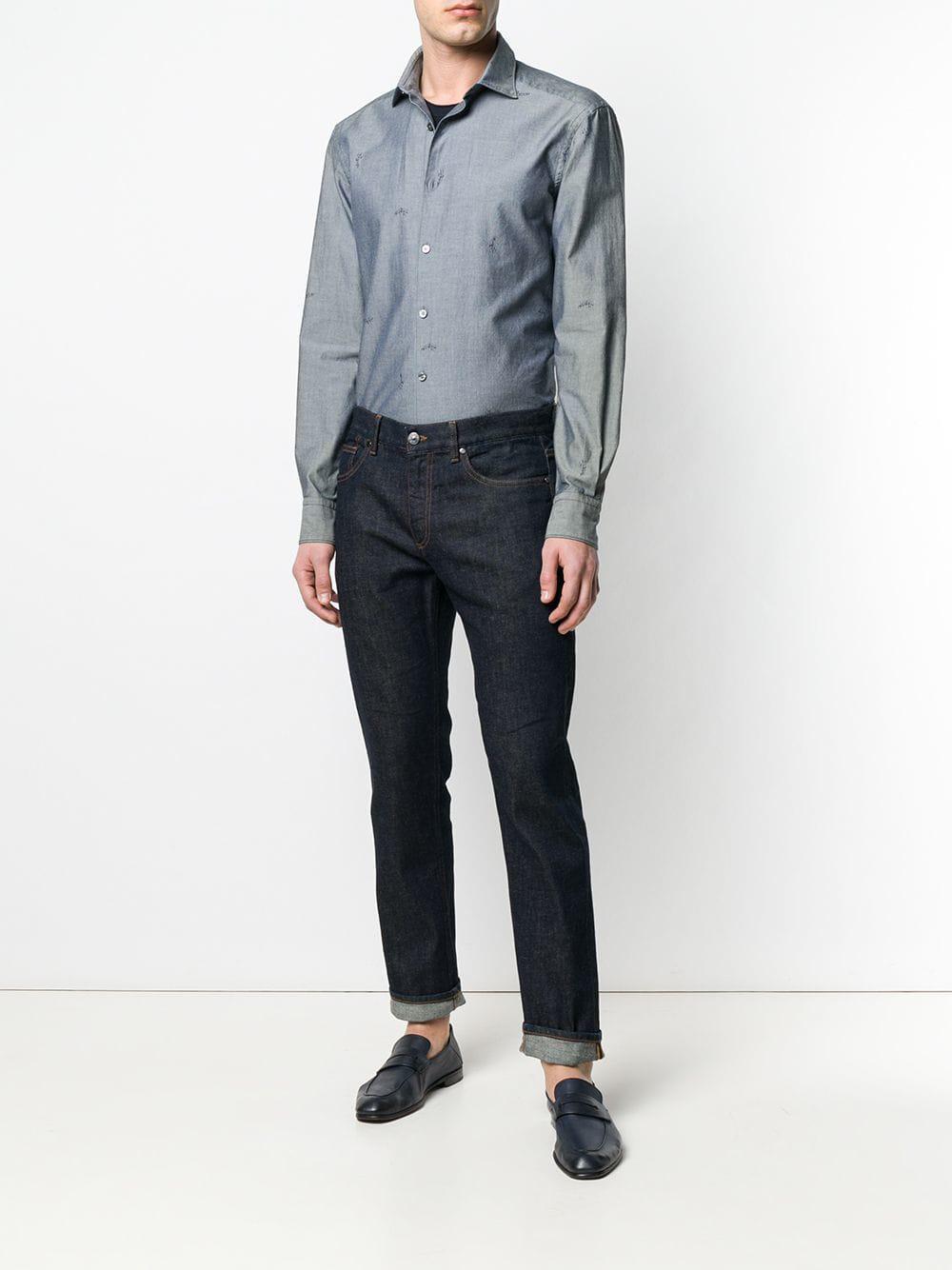 c870466a4c82a Lyst - Ermenegildo Zegna Straight-leg Jeans in Blue for Men