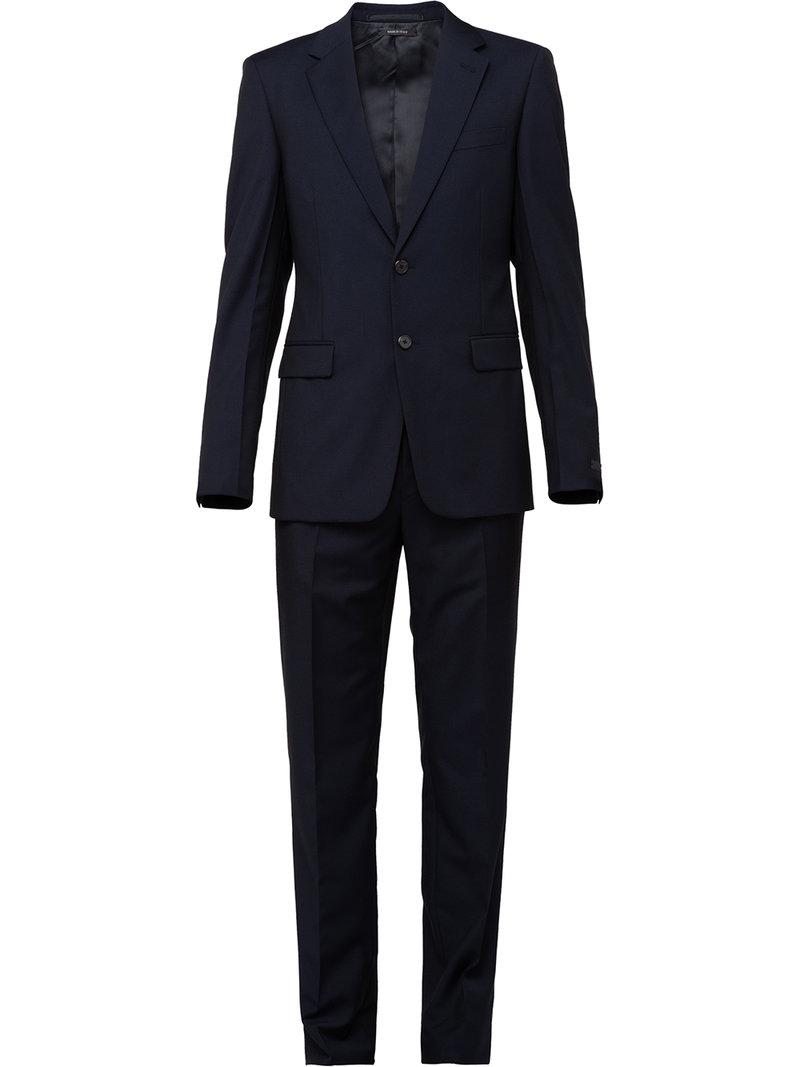 387bbd1aaa22 Prada - Black Slim Fit Two Piece Suit for Men - Lyst. View fullscreen