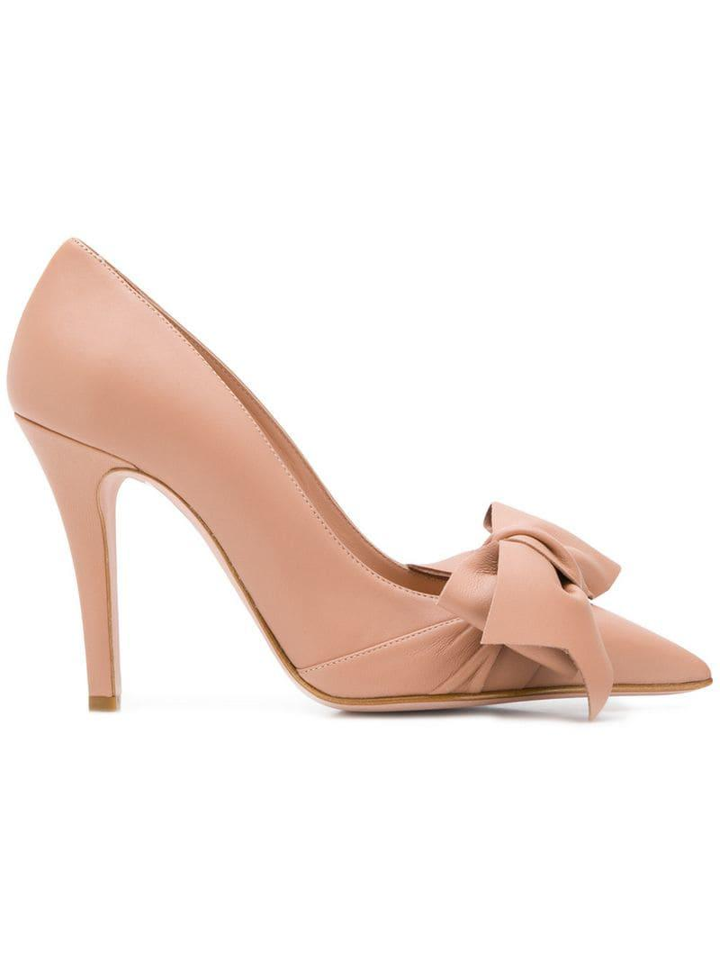 1f3c4c1d830 Lyst - RED Valentino Red(v) Flow Bow Pumps in Pink - Save 6%