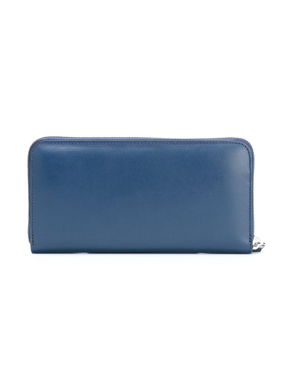 Fendi - Blue Portefeuille à logo imprimé - Lyst. Afficher en plein écran f7e41a0dbdb