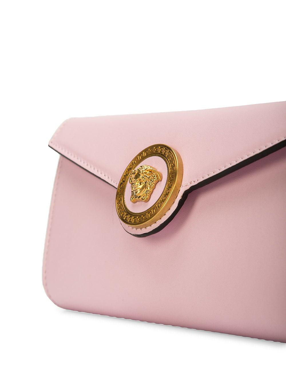 deab5188c5 Versace - Pink Foldover Medusa Clutch - Lyst. View fullscreen
