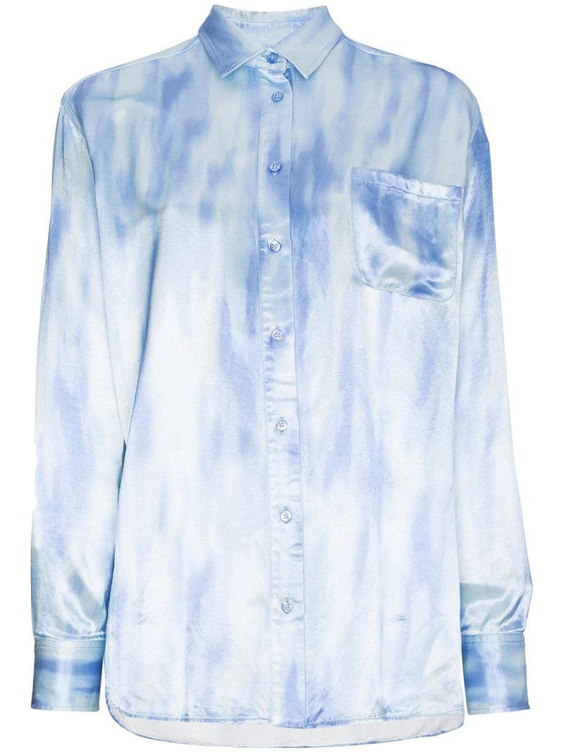 Lyst Sies Marjan Tie Dye Long Sleeve Buttoned Shirt In Blue Save 43