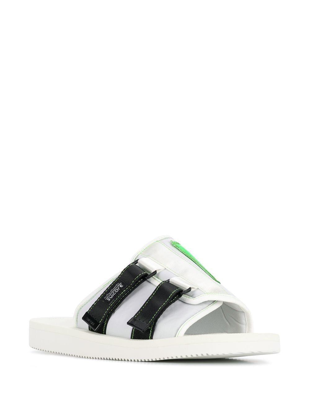 c36c4399044d Lyst - Palm Angels Strap-embellished Slides in White for Men