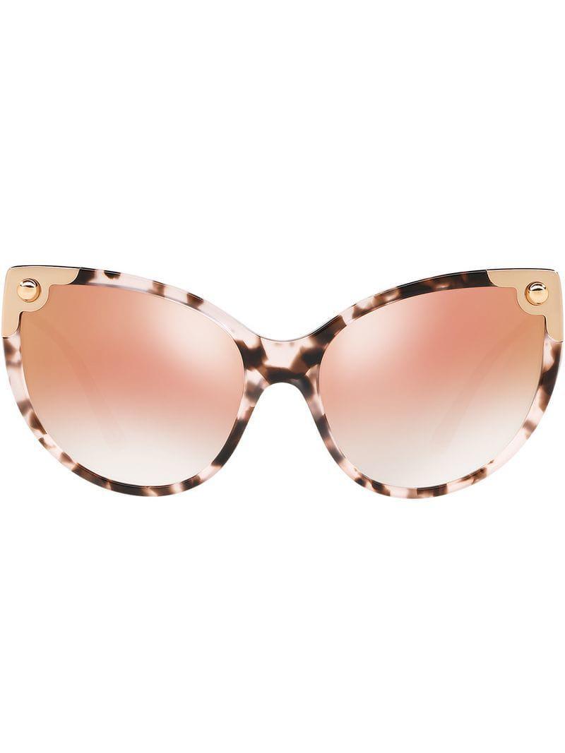 a97c4e3c8ff Dolce   Gabbana Cat-eye Tinted Sunglasses in Pink - Lyst
