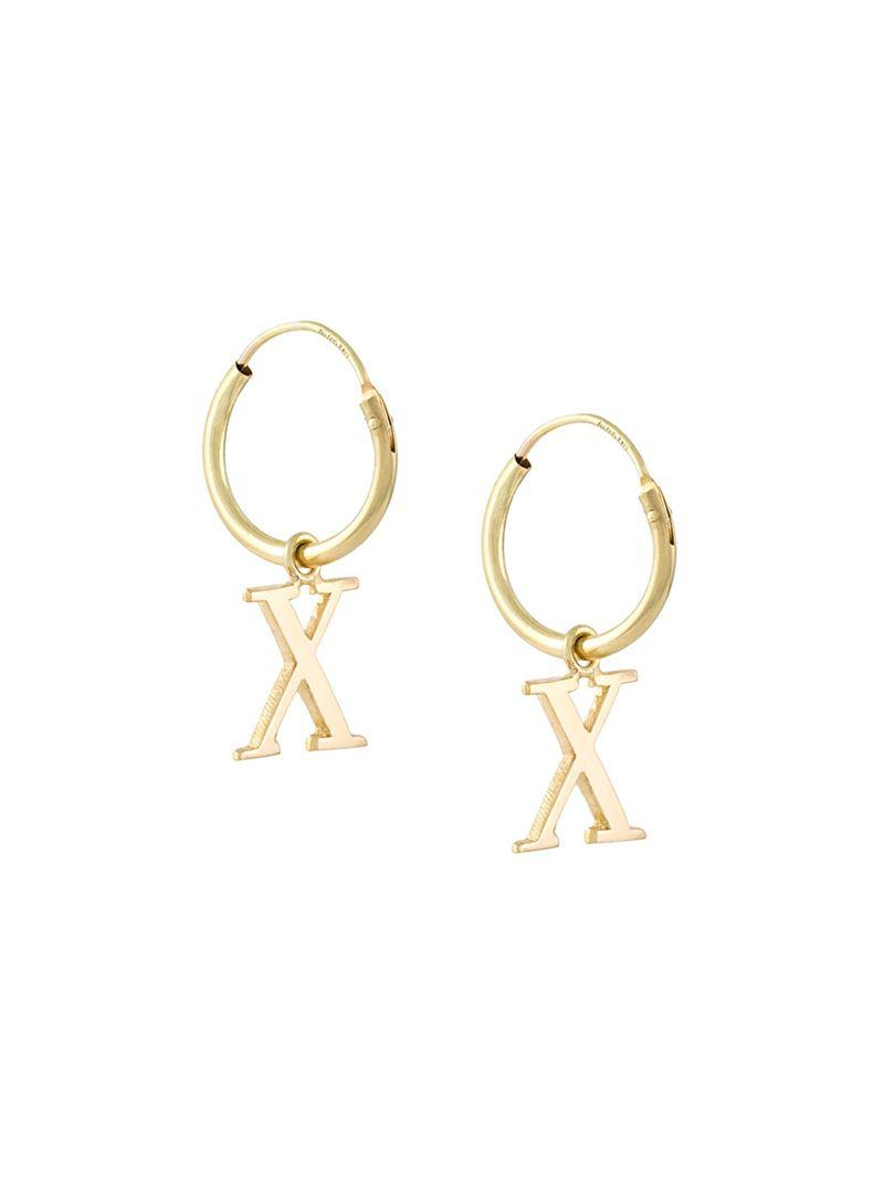 Wouters & Hendrix 18kt yellow gold sculpted hoop earrings - Metallic MqYsCv