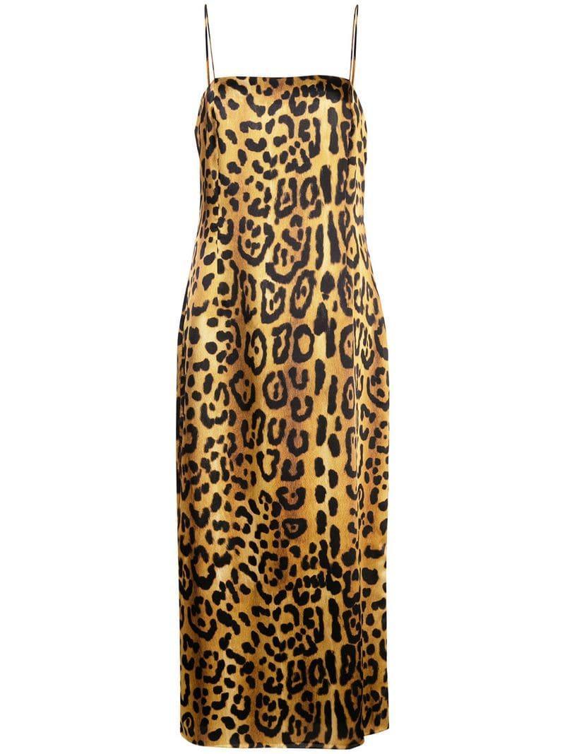 Lyst - Adam Lippes Leopard Cami Dress in Metallic 18b903194