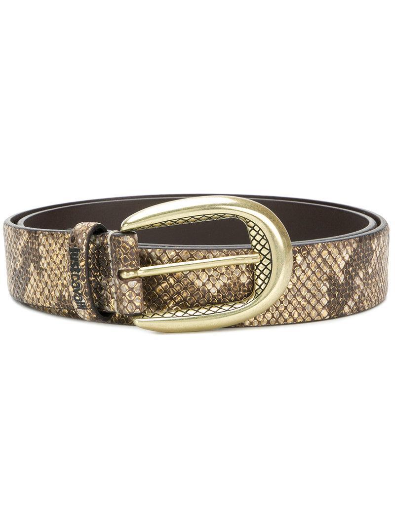 snakeskin effect belt - Metallic Just Cavalli Ngkykf1oQa