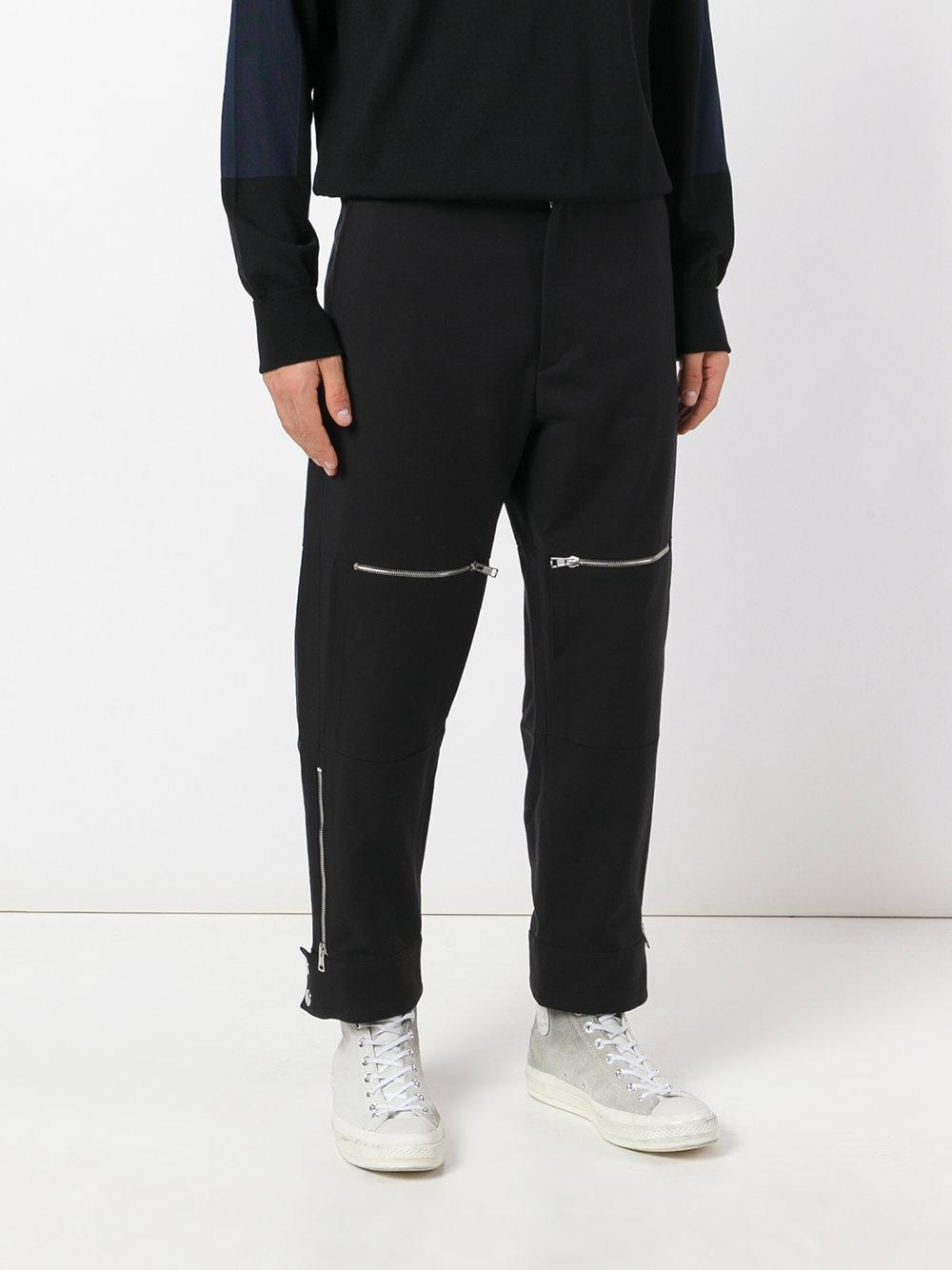 Cheap Sale Supply Cheap Best zip knee trousers - Black Stella McCartney Free Shipping Cheapest Price Outlet With Paypal Order Online 48nuUfA