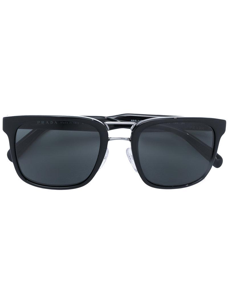 86dc7f0d54 Prada - Black Gafas de sol cuadradas for Men - Lyst. Ver en pantalla  completa