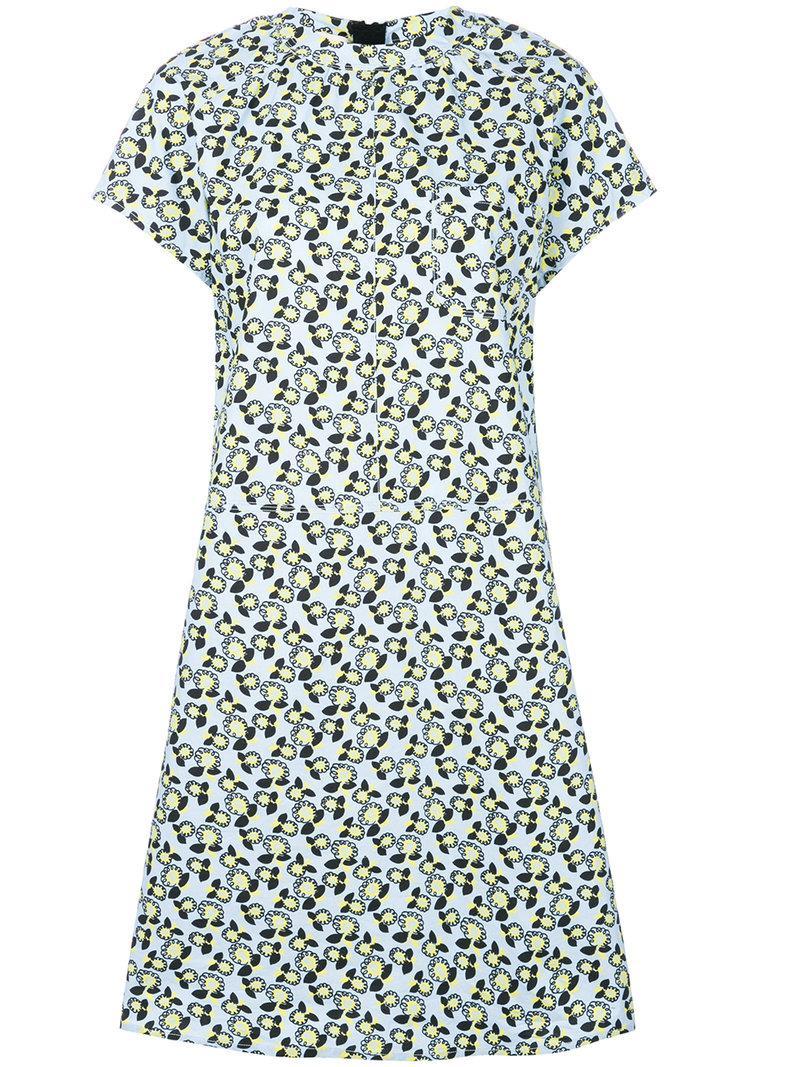 floral shift dress - Blue Marni jlX3gY