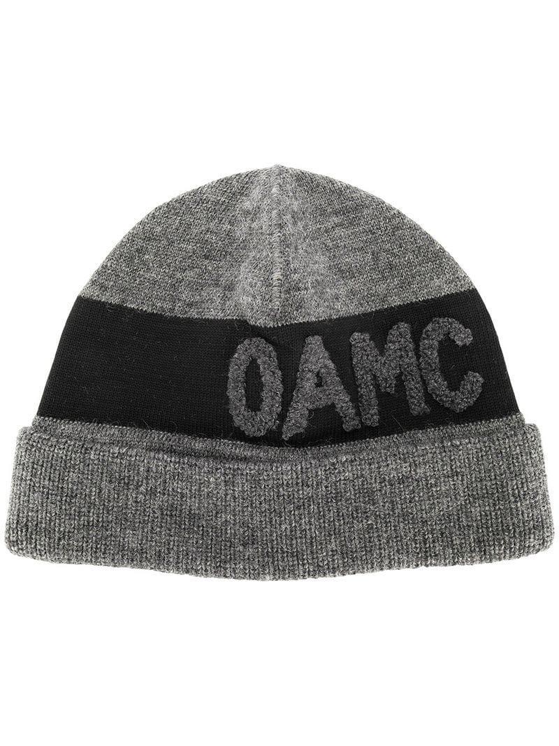 OAMC - Gray Logo Beanie for Men - Lyst. View fullscreen 34ee7aa9ebd0