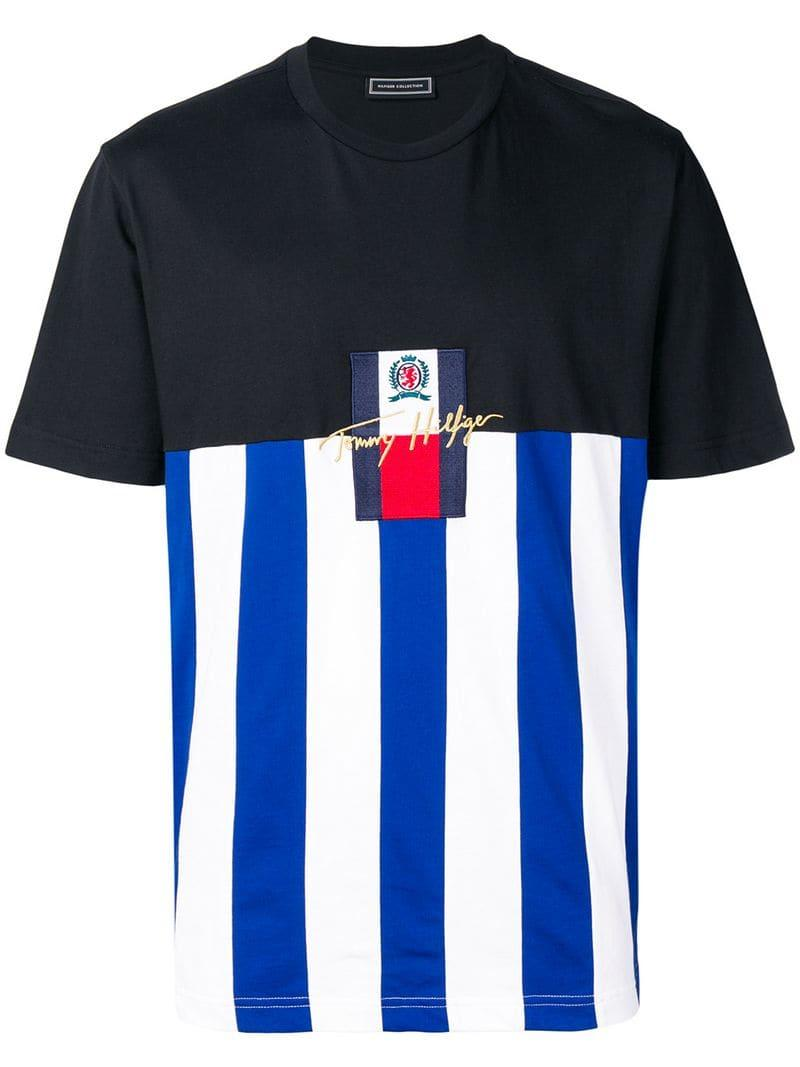 960f47d650 Tommy Hilfiger Embroidered Logo T-shirt in Black for Men - Lyst