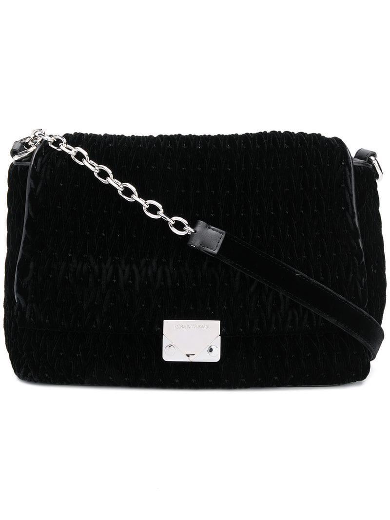 863d2ce1fad0 Lyst - Sac porté épaule à plaque logo Emporio Armani en coloris Noir