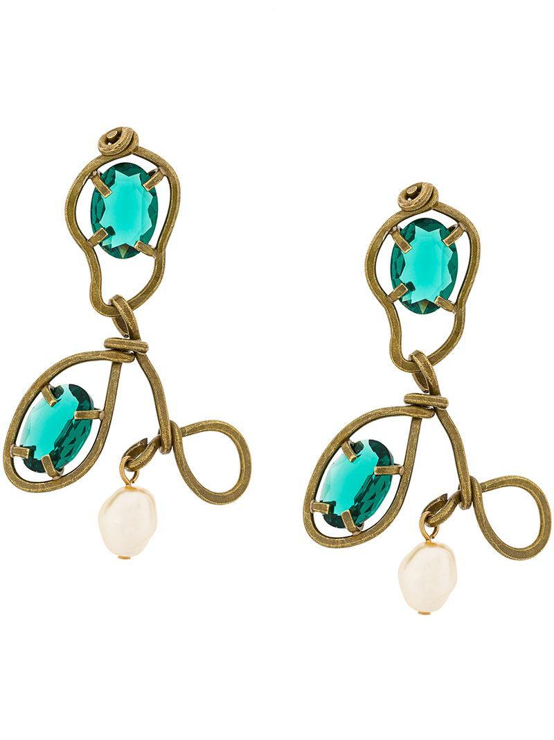 abstract stone earrings - Metallic Marni fG4j2wMudf