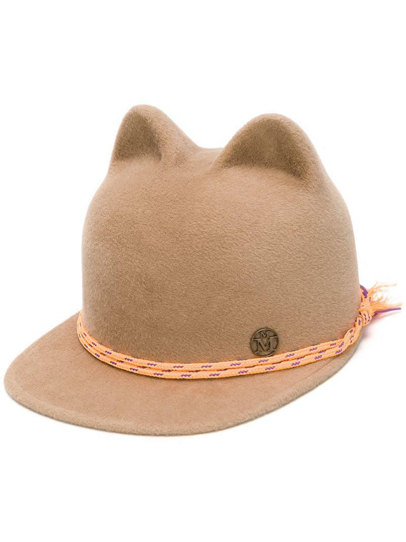 7e7b25c3148 Lyst - Maison Michel Animal Ear Cap in Brown