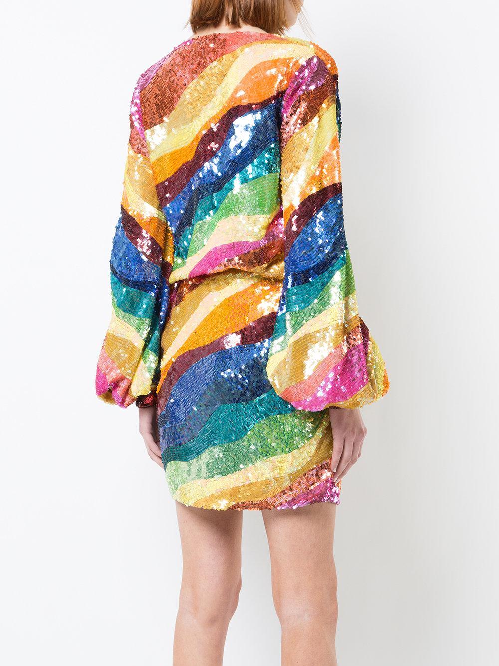 Lyst Attico Sequin Wrap Mini Dress