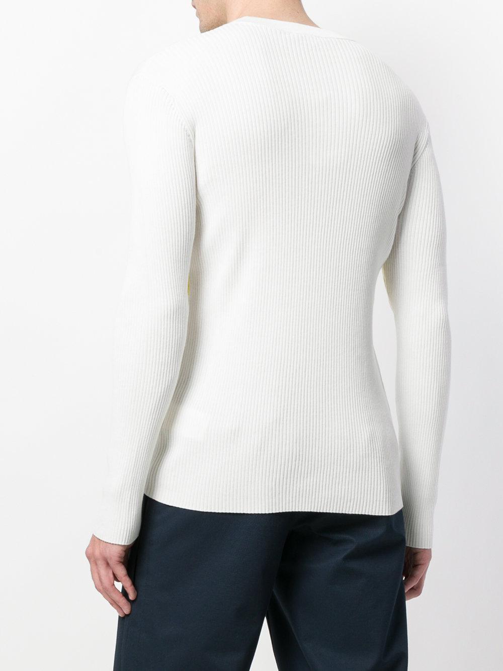 e128c11691c Lyst - Pull nervuré Ryuichi Sakamoto KENZO pour homme en coloris Blanc