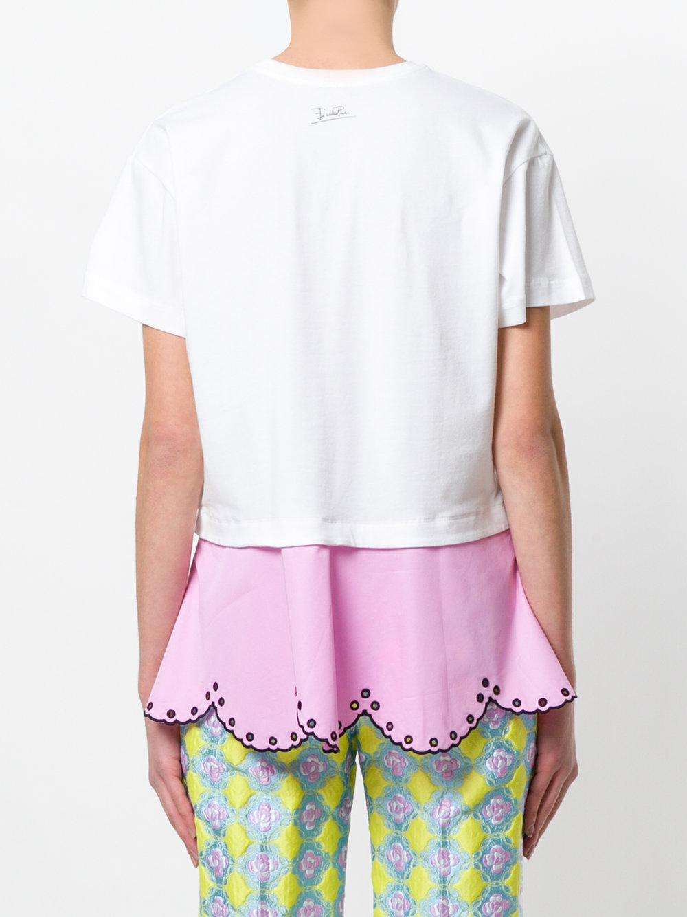Emilio Pucci layered open embroidery T-shirt Quality From China Cheap Sale For Sale Shopping Online Cheap Price Cheap Sale Manchester NFMshYBo