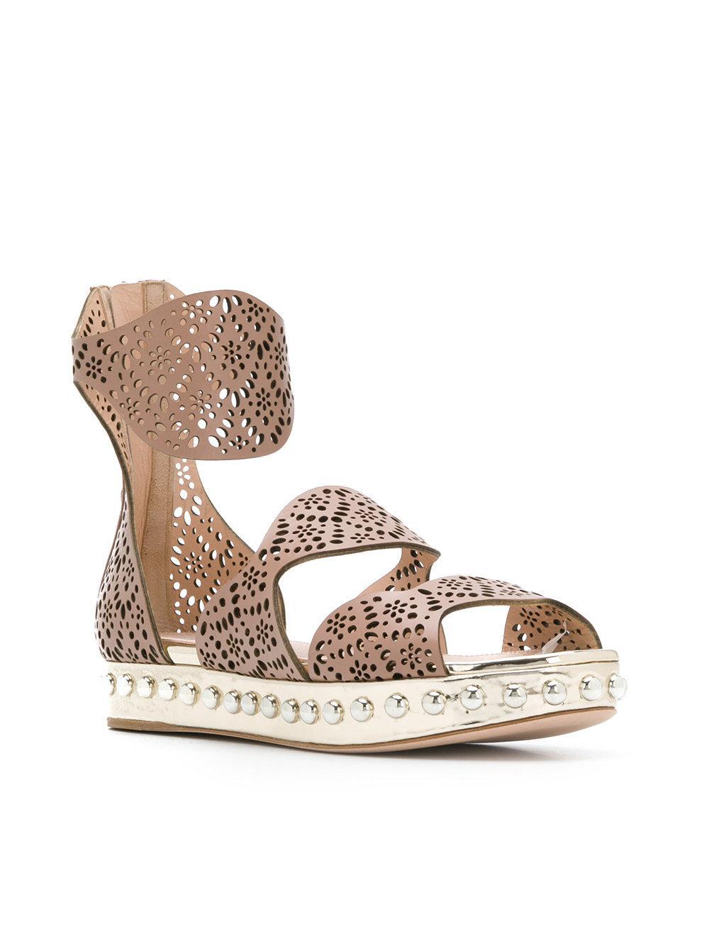perforated strap sandals - Nude & Neutrals Giambattista Valli Ern9m0