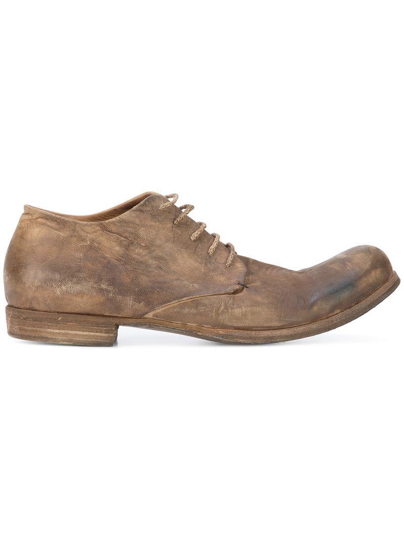 Une Chaussure Derby De Détresse Diciannoveventitre - Marron Qh6hGIIPVE