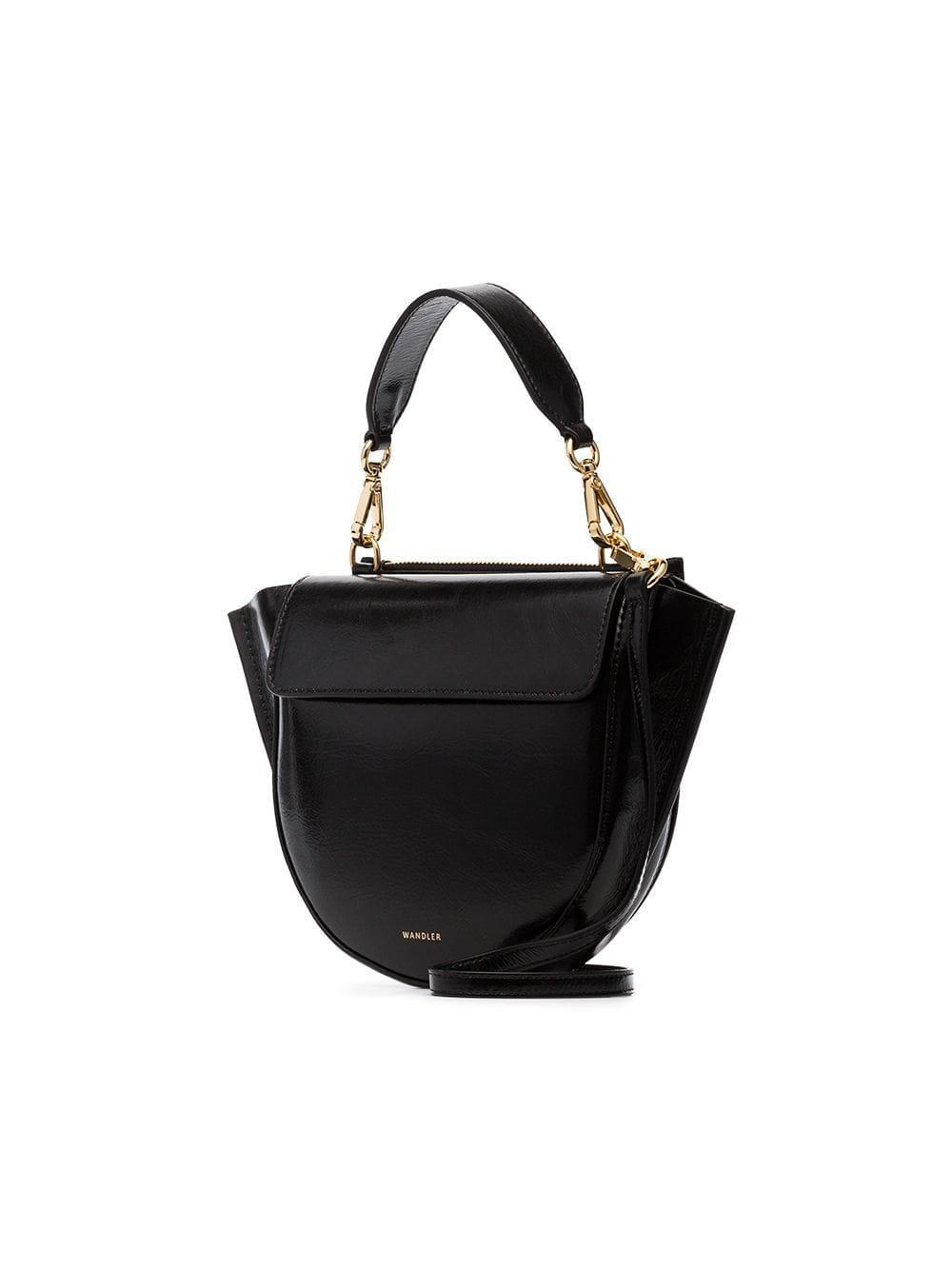 Wandler - Black Hortensia Mini Lamb Skin Shoulder Bag - Lyst. View  fullscreen 9b6ff5a4b5
