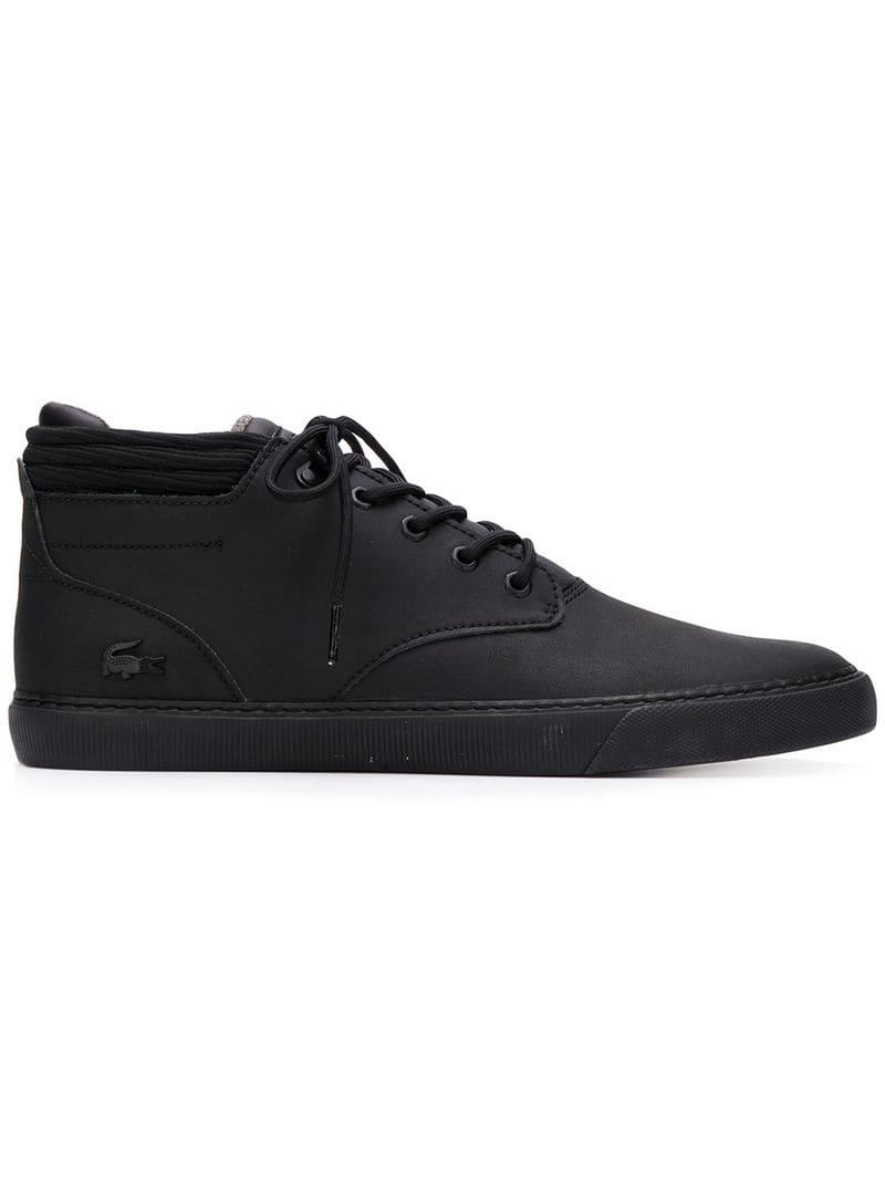 093cee04b Lyst - Lacoste Lace-up Boots in Black for Men