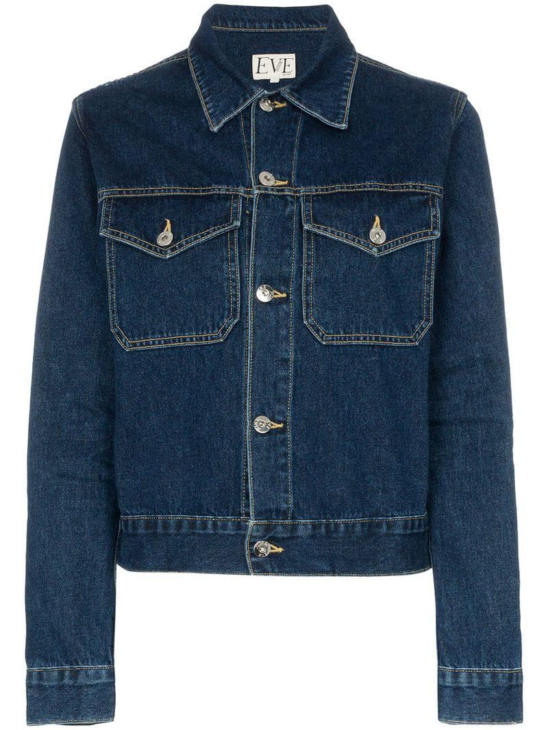 d6e0e8f5e Eve Denim Kaila Long Sle Jacket in Blue - Lyst