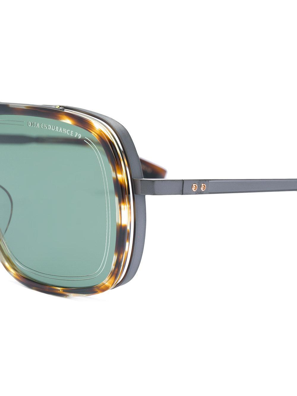 00427667b1b Lyst - Dita Eyewear Endurance Aviator-style Sunglasses in Brown