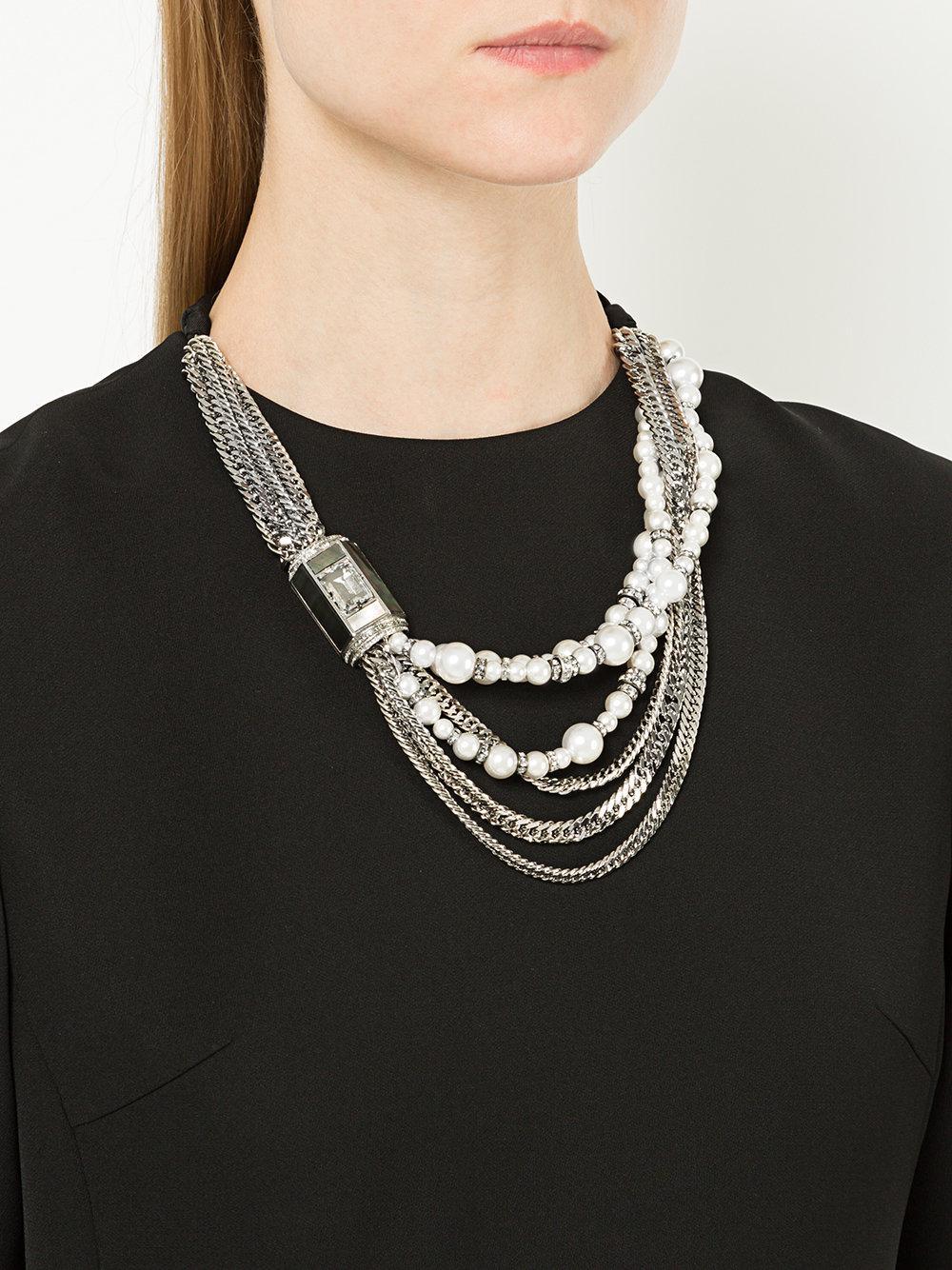 Lanvin embellished chain necklace - Metallic yfNWYb7xkX