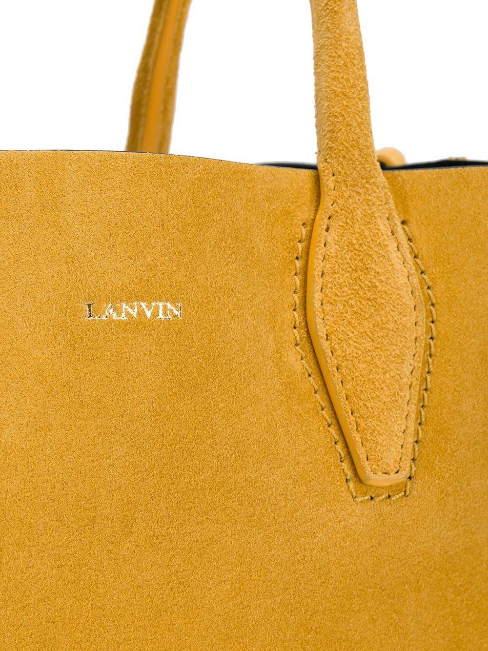 537219b6ec Sac à main en daim Lanvin - Lyst