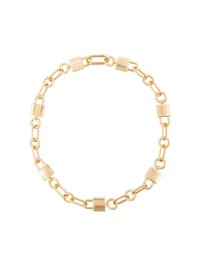 AMBUSH Gold padlock link necklace - Metallic yWutsbck