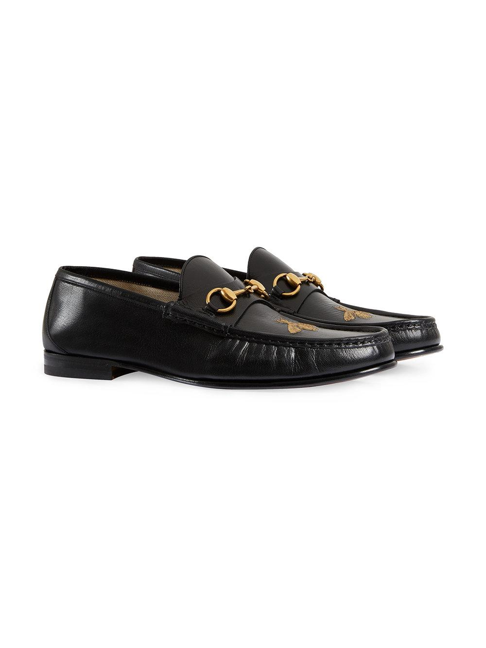 f6c57ea1c4a Lyst - Gucci Men s Horsebit Leather Loafer in Black for Men - Save 12%