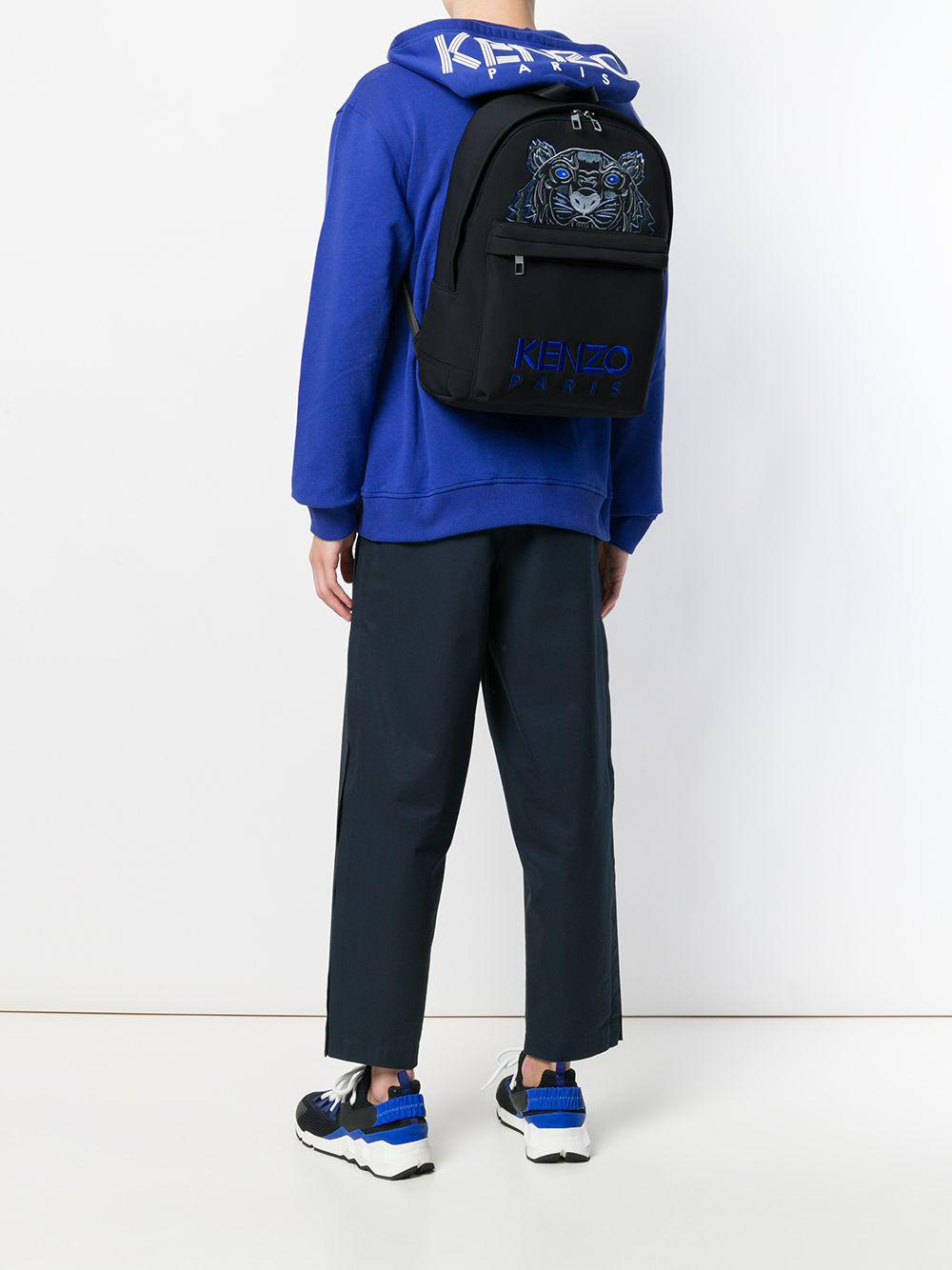 aa6f6f27 Kenzo Tiger Embroidery Backpack in Black - Lyst
