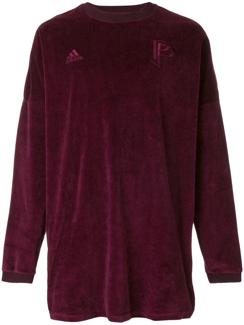263c8bb390b Lyst - adidas Oversized Velvet Sweatshirt in Purple for Men