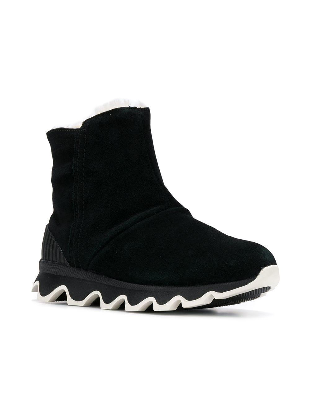 650b59172362 Sorel - Black Ridged Platform Boots - Lyst. View fullscreen