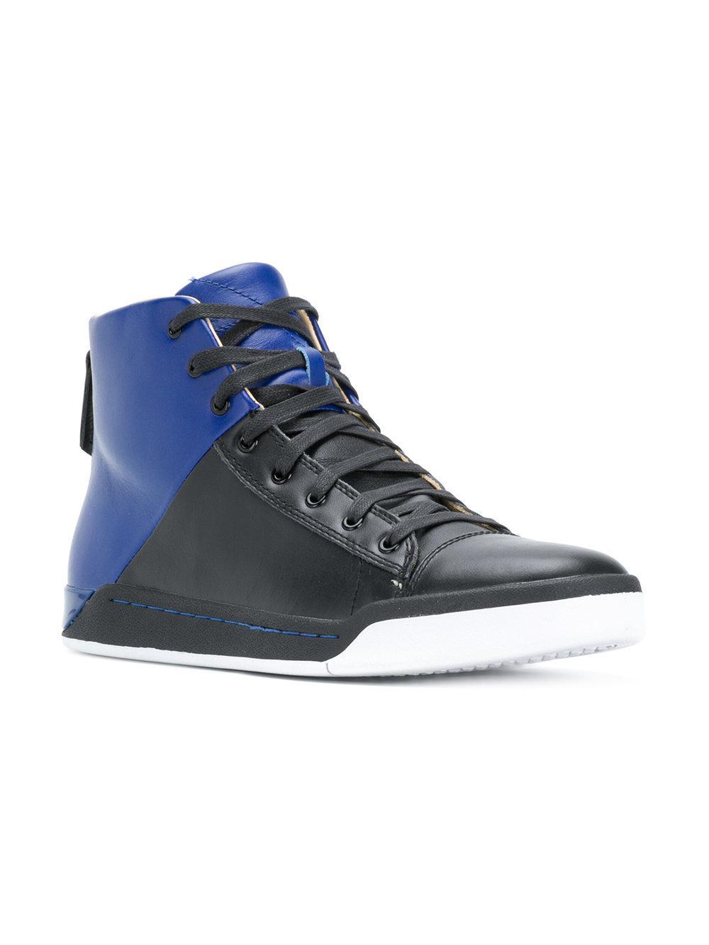 Diesel two-tone hi-top sneakers sale fake 7sJIFQHF