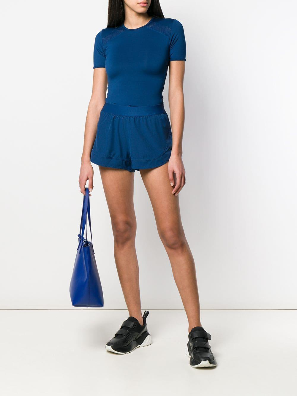 a356bd3c34d2 Adidas By Stella McCartney - Blue Running Shorts - Lyst. View fullscreen