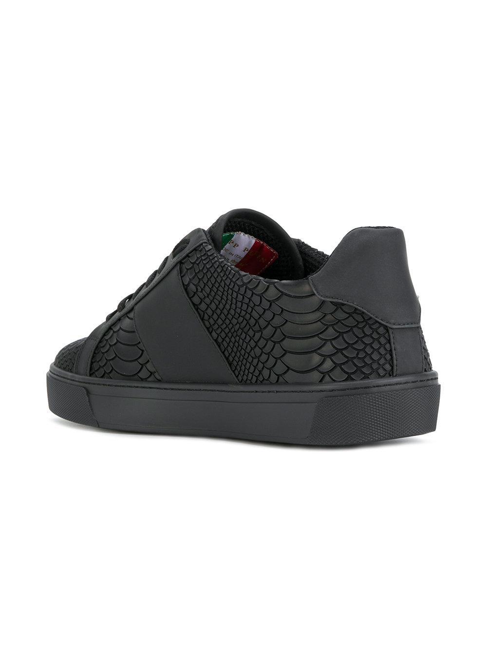 e2543677f39 Philipp Plein Talk Slow Sneakers in Black for Men - Lyst