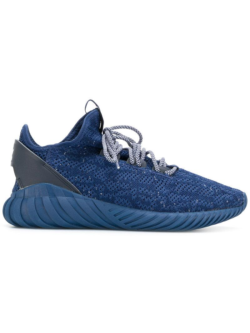Lyst adidas originali tubulare doom sock primeknit scarpe in blu