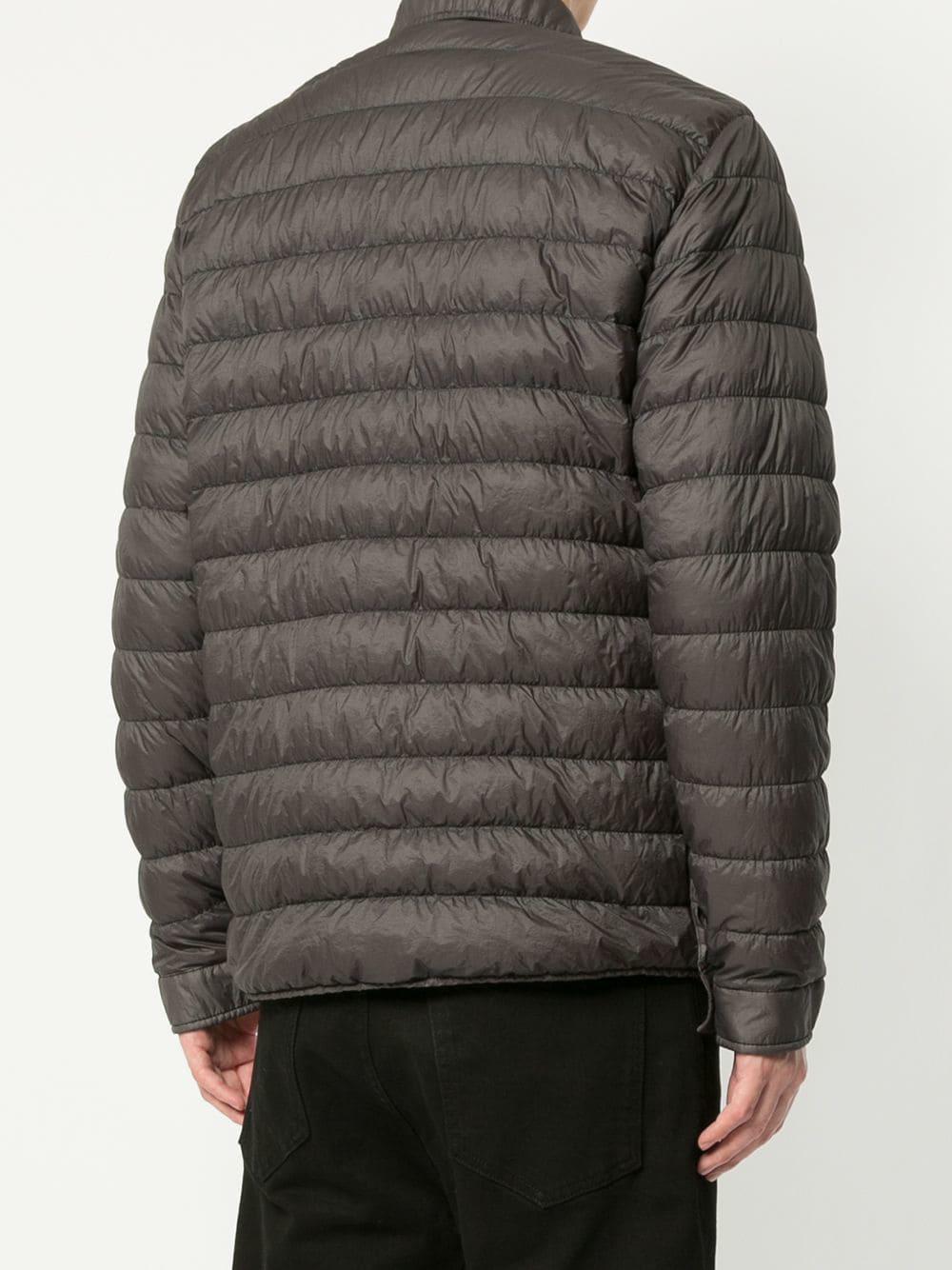 500bf367cbd27 Lyst - Stone Island Garment Dyed Micro-yarn Down Packable in Black ...