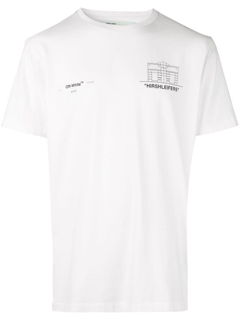 673e4e54d689 Off-White c o Virgil Abloh Oversized Logo T-shirt in White for Men ...