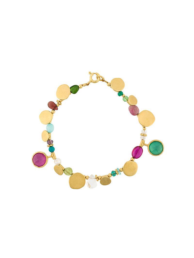 Katerina Makriyianni dove charm bracelet - Green njyckPM
