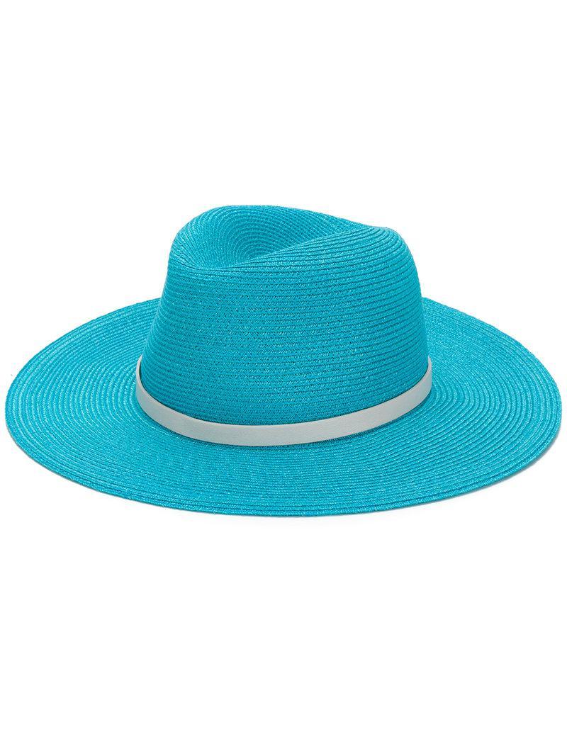 b833e9d1c3e Lyst - Inverni Contrast Band Hat in Blue