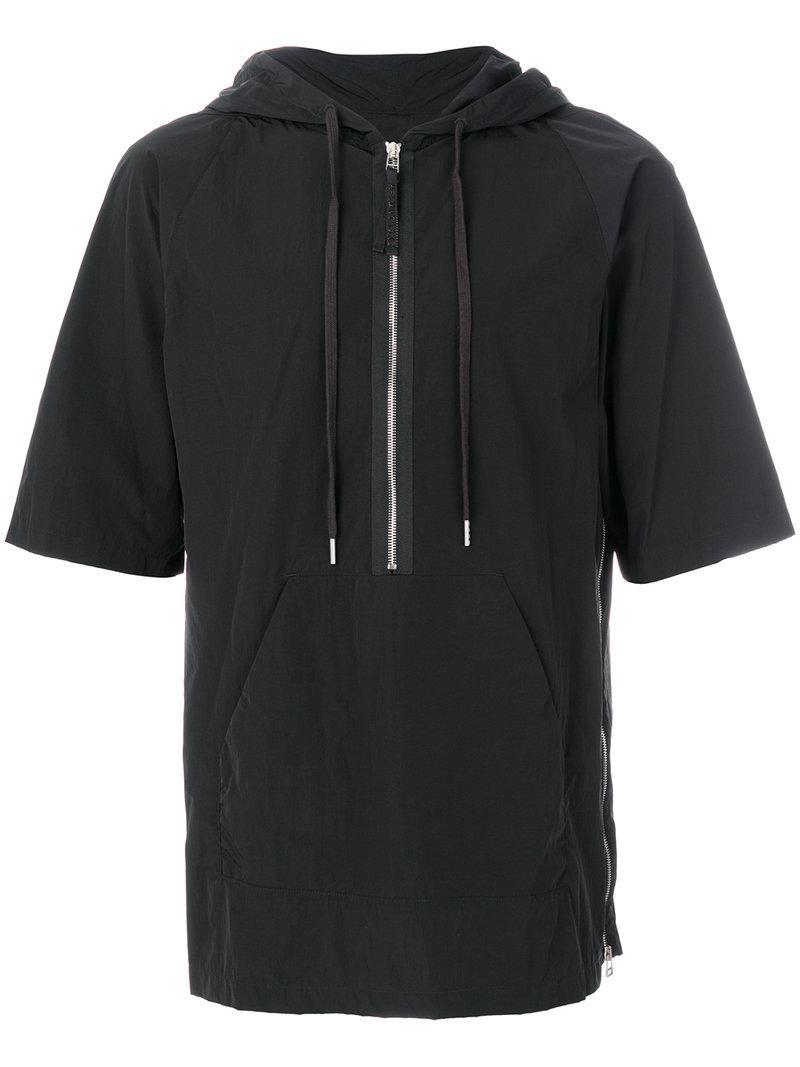 Helmut lang hooded t shirt in black for men lyst for Helmut lang t shirt
