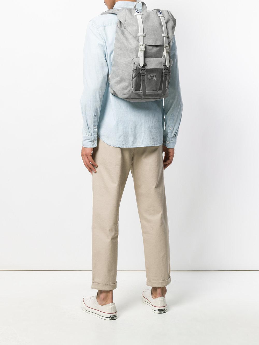 2939e54e8ca Herschel Supply Co. Little America Medium Backpack in Gray for Men ...